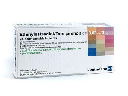 Ethinylestradiol/drospirenon 0,02/3mg