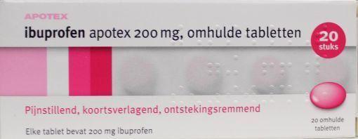 Bild von Ibuprofen 200mg APOTEX 20 Stück