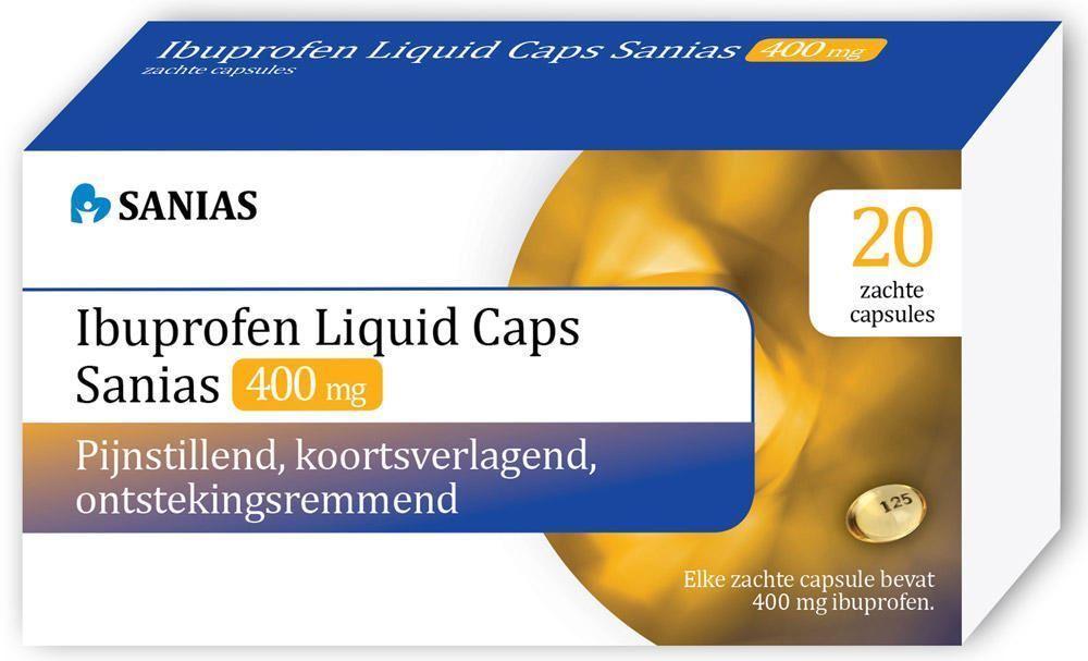 Bild von Ibuprofen 400 mg LIQUID 20 Kapseln SANIAS